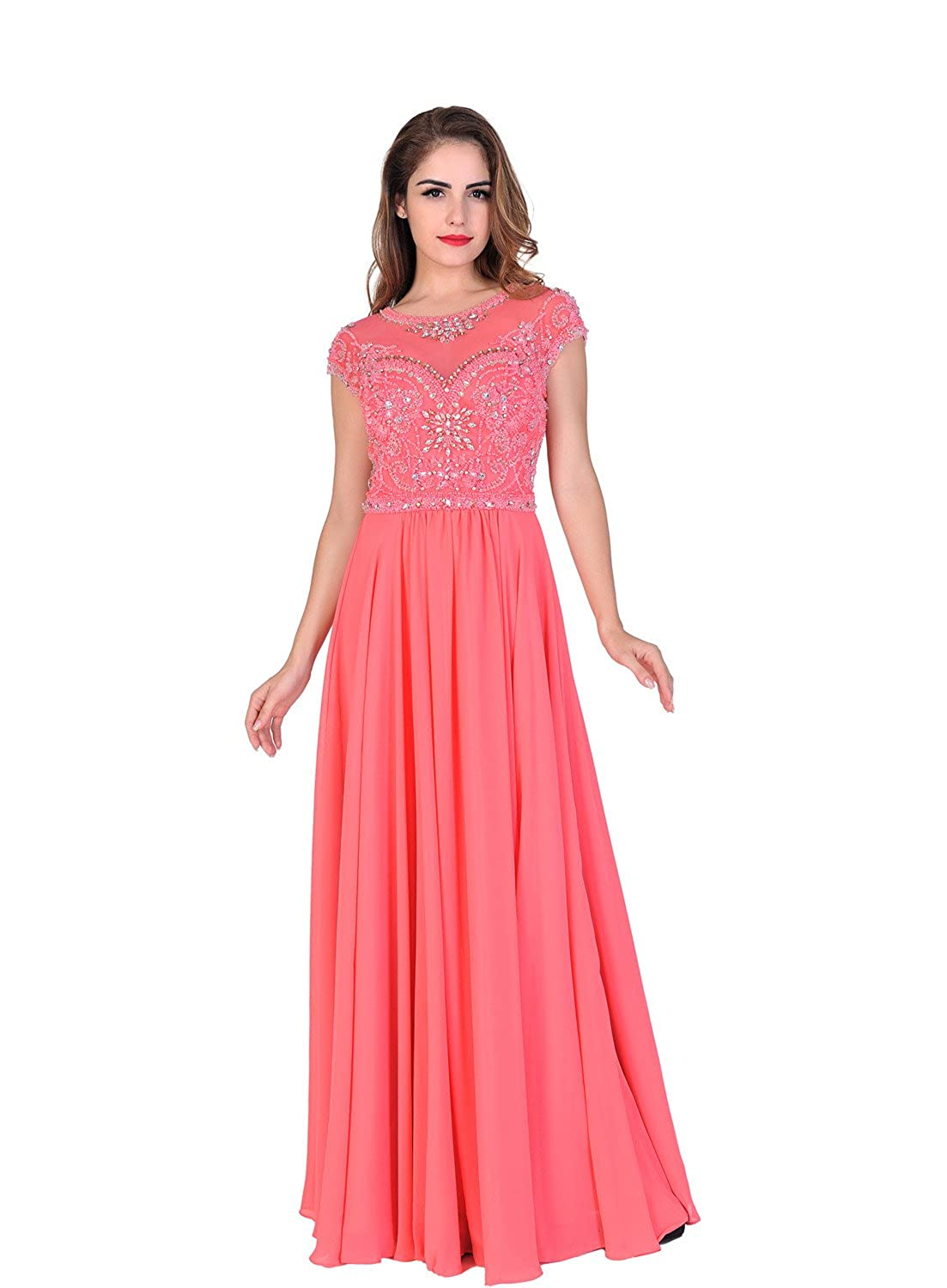 Amazon.com: Chic Belle Women Prom Dresses Long Formal Evening Gowns ...