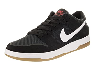 a642cf2225ac Nike Men s SB Zoom Dunk Low Elite Black White Gum Light Brown Skate Shoe