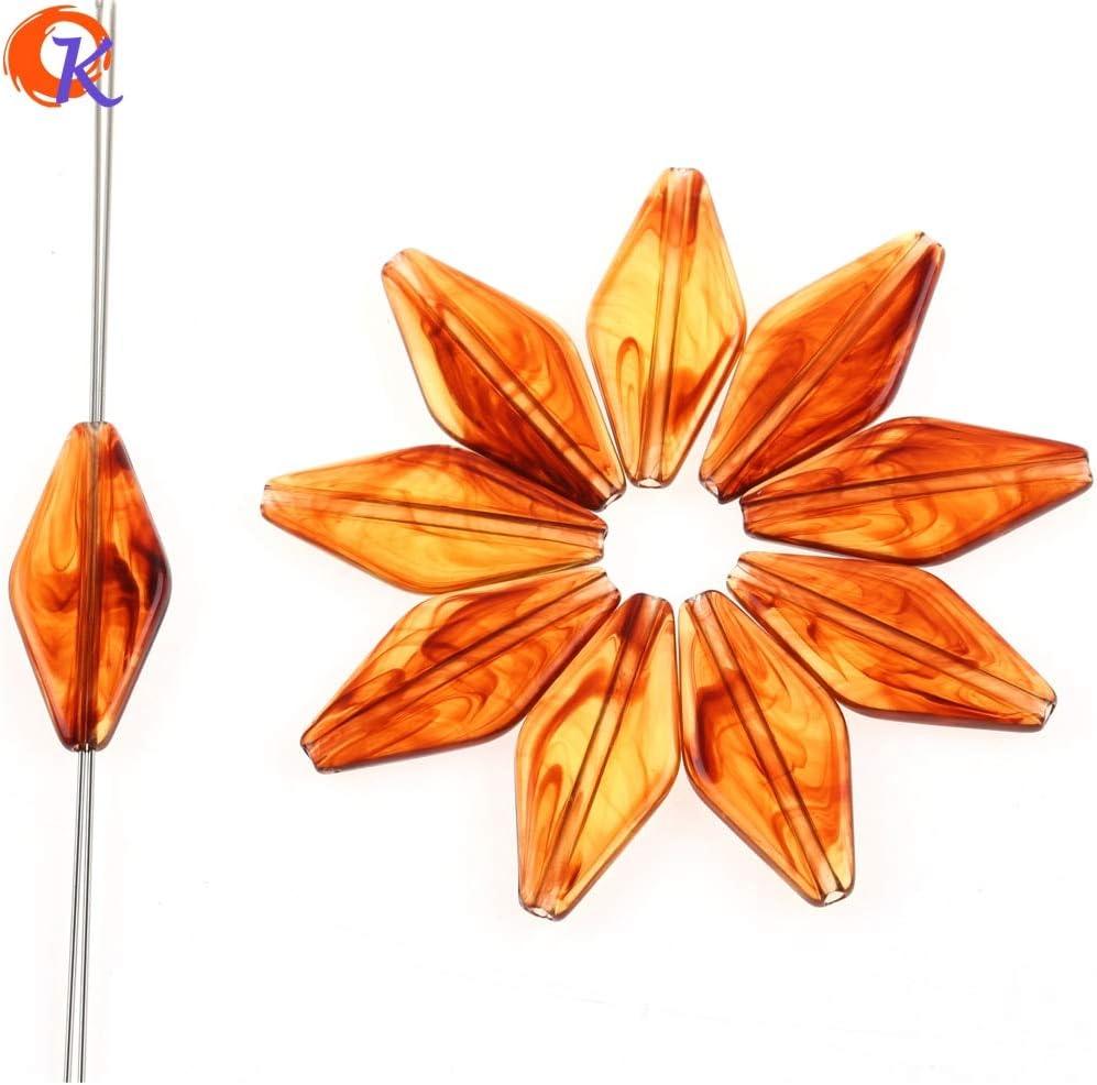 Design As Shown Acrylic ImitationAmberEffect Rhombus Beads for Hand Made Jewelry DIY Calvas 14x31mm 430pcs//lot