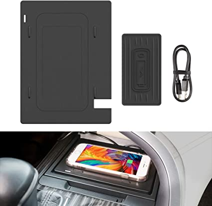 Wireless Charger Anti-slip 3 Coils Console Center Wireless Panel for Any Qi Enable Phone Standard Charging for 2018 2019 2020 Camry CarQiWireless Wireless Charging Pad for Toyota Camry Accessories
