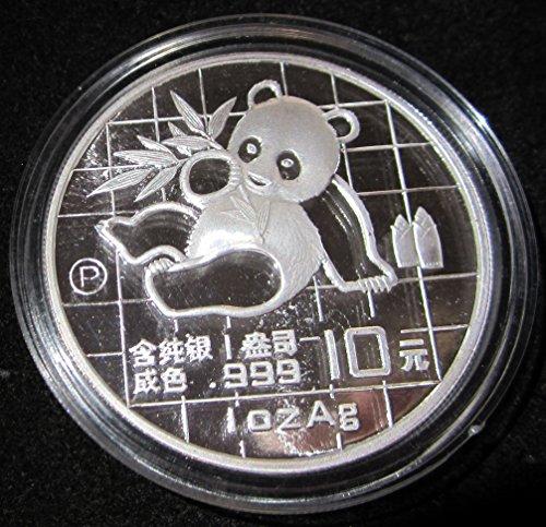 10 Yuan Silver Proof (1989 CN China 1 Ounce Silver Panda Proof With Box 10 Yuan Proof)