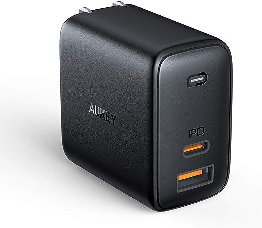 Cargador USB C AUKEY Cargador rápido 65 W PD 3.0 con detección ...
