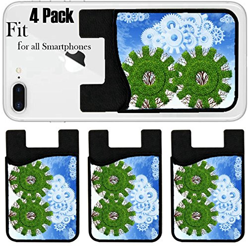 Liili Phone Card holder sleeve/wallet for iPhone Samsung Android and all smartphones with removable microfiber screen cleaner Silicone card Caddy(4 Pack) Cloud computing growth and the future of virt by Liili