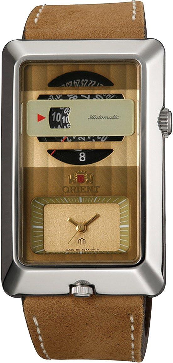 Orient # fxcaa004bメンズデュアルタイムゾーン自動クォーツ組み合わせアナログ腕時計 B01DCRF75K