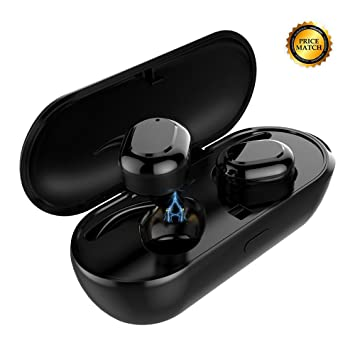 True Wireless Earbuds, Meidong Stereo Bluetooth Headphones Sweatproof Sports In Ear Earphones with Portable Charging