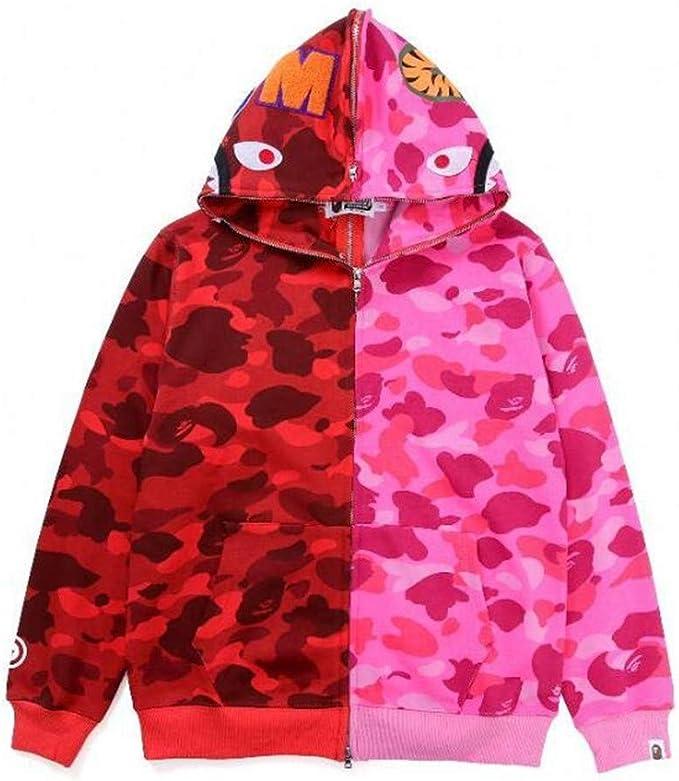 Amazon.com: Mulynn Bape Fashion Colorblock Camo Casual Loose ...
