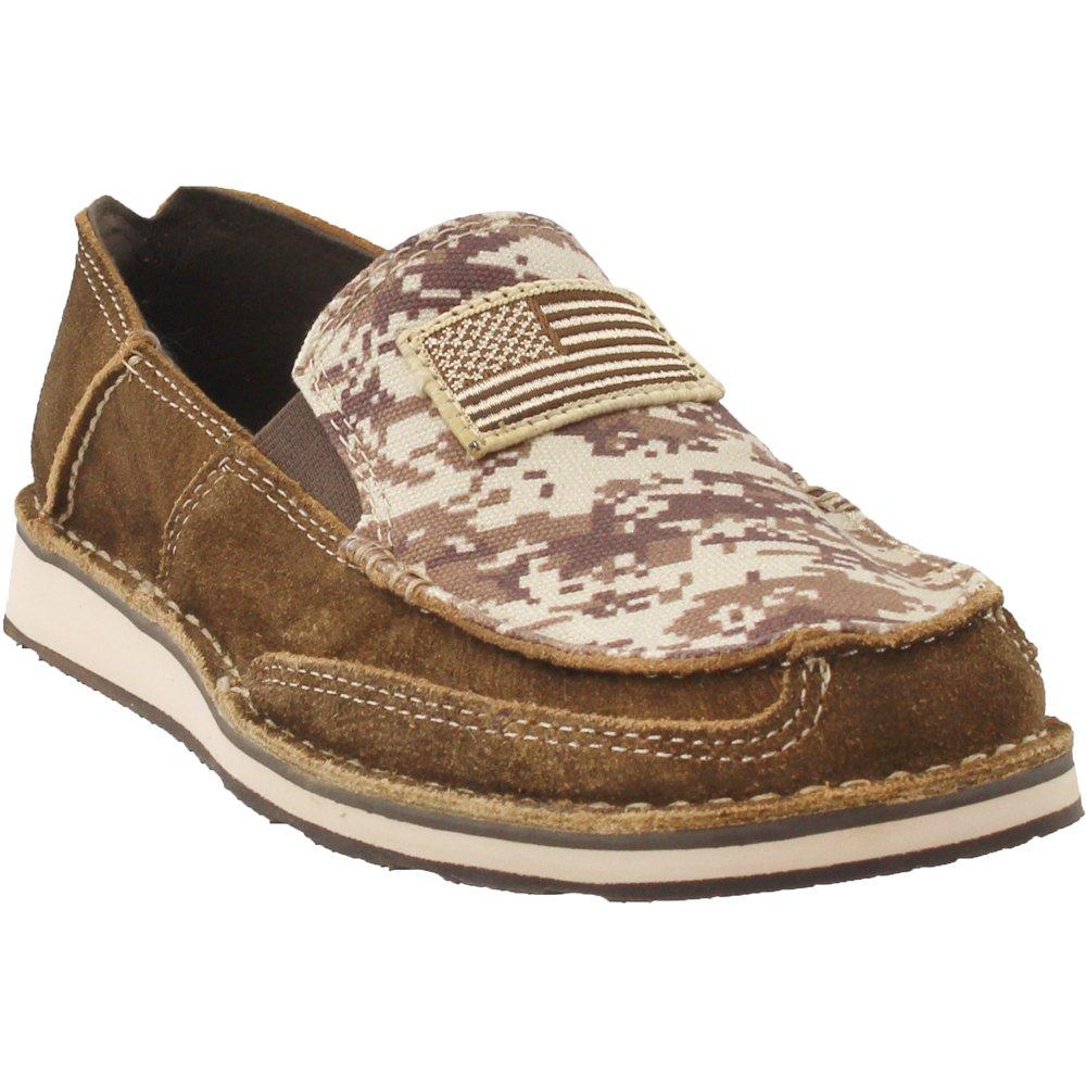 Ariat Men's Cruiser Slip-on Shoe B079VT8DNS 10.5 D(M) US|Antique Mocha Washed Suede