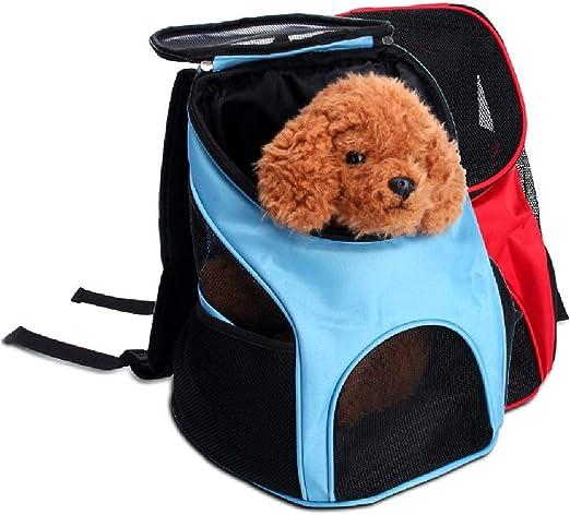 XIAOSHUEMochila para Mascotas Bolsa para Perros Excursión Estuche para Transportar Teddy Mochila Pecho para Perros Bolsa para Gatos Bolsa Exterior Bolsa: Amazon.es: Productos para mascotas