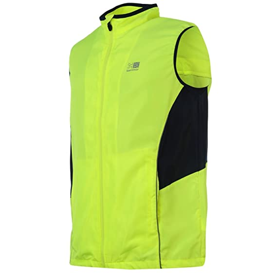 Lovely Asics Stef Mens Windproof Hi-viz Running Gilet Yellow Reflective Bodywarmer Clothing & Accessories