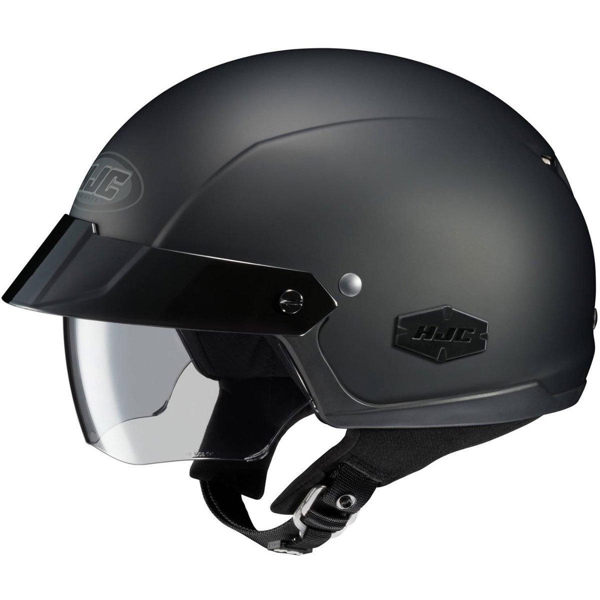 HJC Solid IS-Cruiser Half (1/2) Shell Motorcycle Helmet - Matte Black/Medium