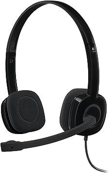 Logitech H151 Auriculares con Cable, Sonido Estéreo con Micrófono Giratorio, Jack 3,5mm, Controles Integrados, PC/Mac/Portátil/Tablet/ Smartphone , Negro: Logitech: Amazon.es: Electrónica