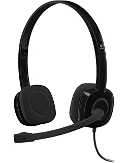 Logitech H151 - Auriculares estéreo, color negro