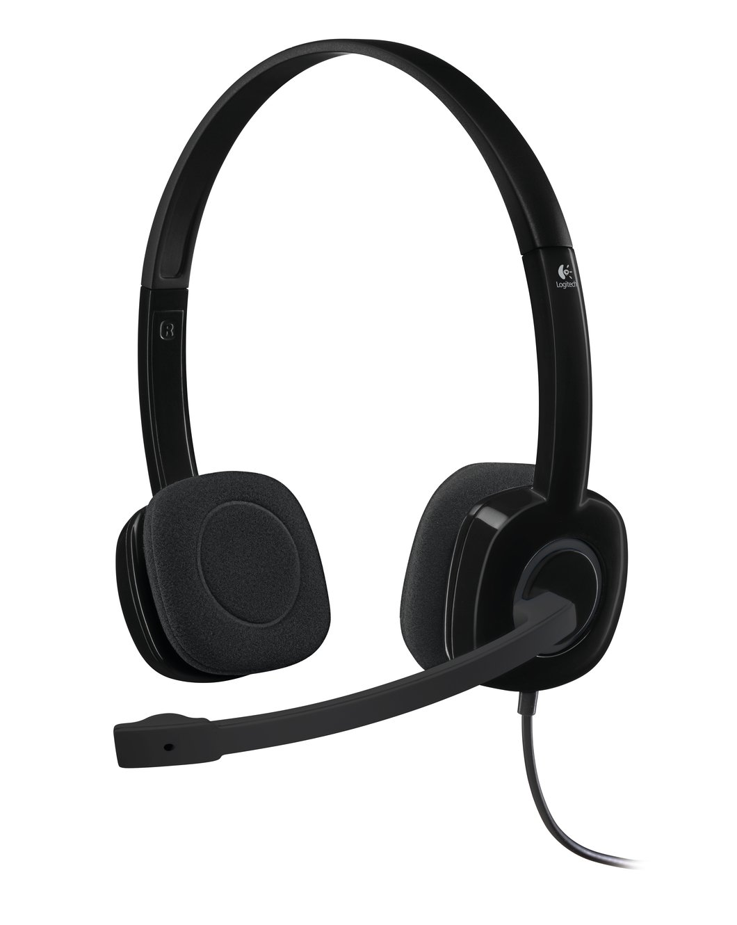 Logitech H151 Binaural Head-band Headset, Black, 981-000589 (Headset, Black)