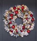 Fairfax Lighted Decorated Holiday Wreath, 30'' dia.