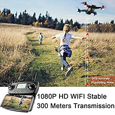 HIp Mall Satellite Positioning GPS Drone 5G WiFi FPV Foldable Quadcopter with 1080P HD Wide Angle Camera, Smart Follow Flying Around 3D VR Mode Auto Return RC Drone