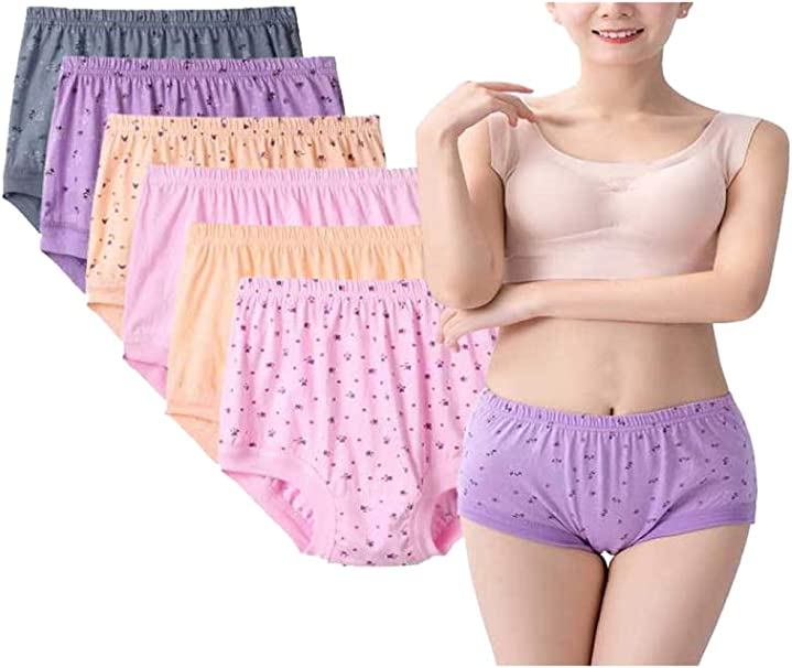 Zinmuwa Bragas De Mujer Bragas Hipster Ropa Interior Niño Pantalones Cortos De Algodón Floral Pack: Amazon.es: Ropa y accesorios