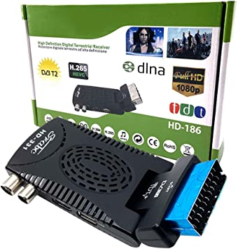 Ashey Euroconector TDT, Digital HD TV Registrador del Receptor del sintonizador Set Top Box, para DVB