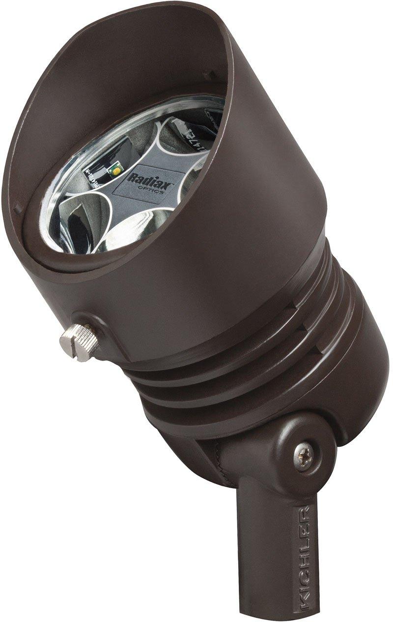 Kichler 16007BBR27 12V LED 6.5W 35-Degree Flood 2700K, Bronzed Brass