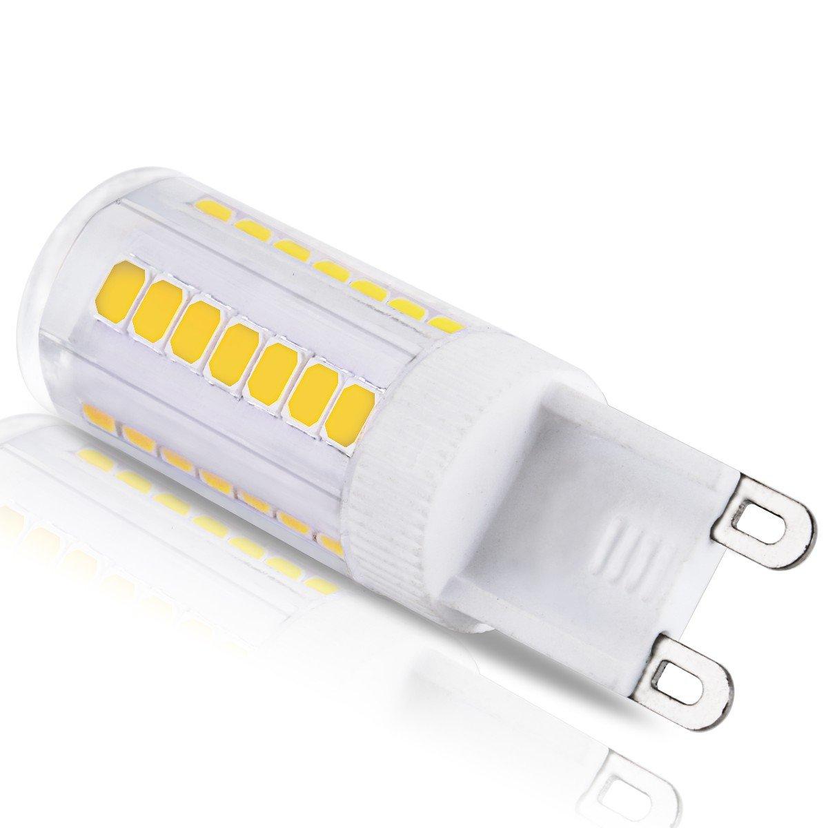 JandCase G9 LED Light Bulbs, 5W, 40W Halogen Equivalent, 400LM ...