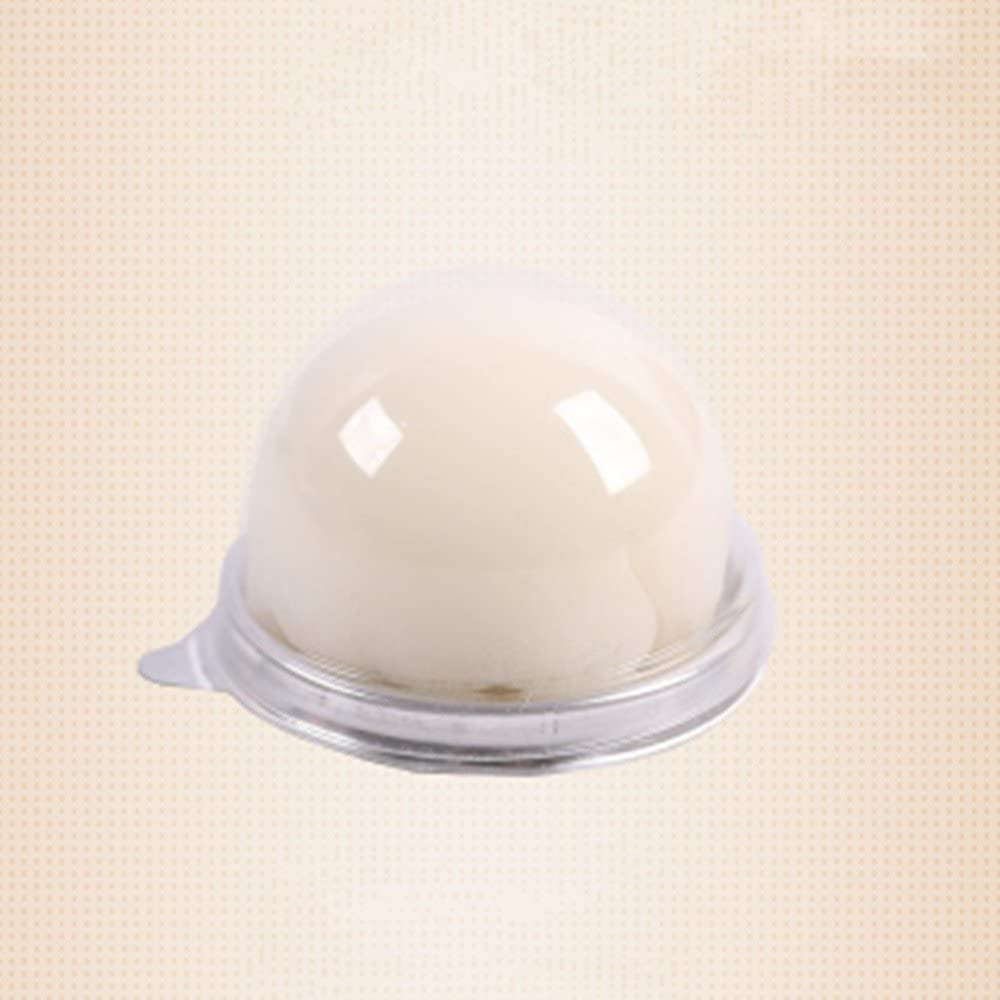 BBC Clear Dome Cake Box Plastic Food Container with Lid, Black/Golden Color, 2.9 Inch Bottom, 50 Sets (Silver)