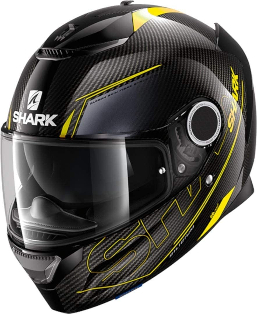 Noir//Blanc Motorcycle helmets Shark SPARTAN CARBON 1.2 SKIN DWS S