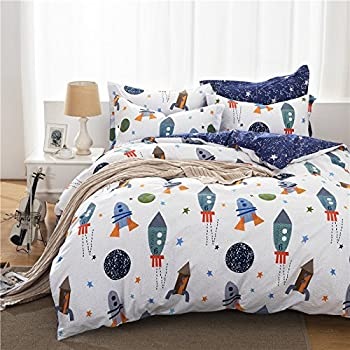 brandream boys galaxy space bedding set kids bedding set duvet cover full queen size