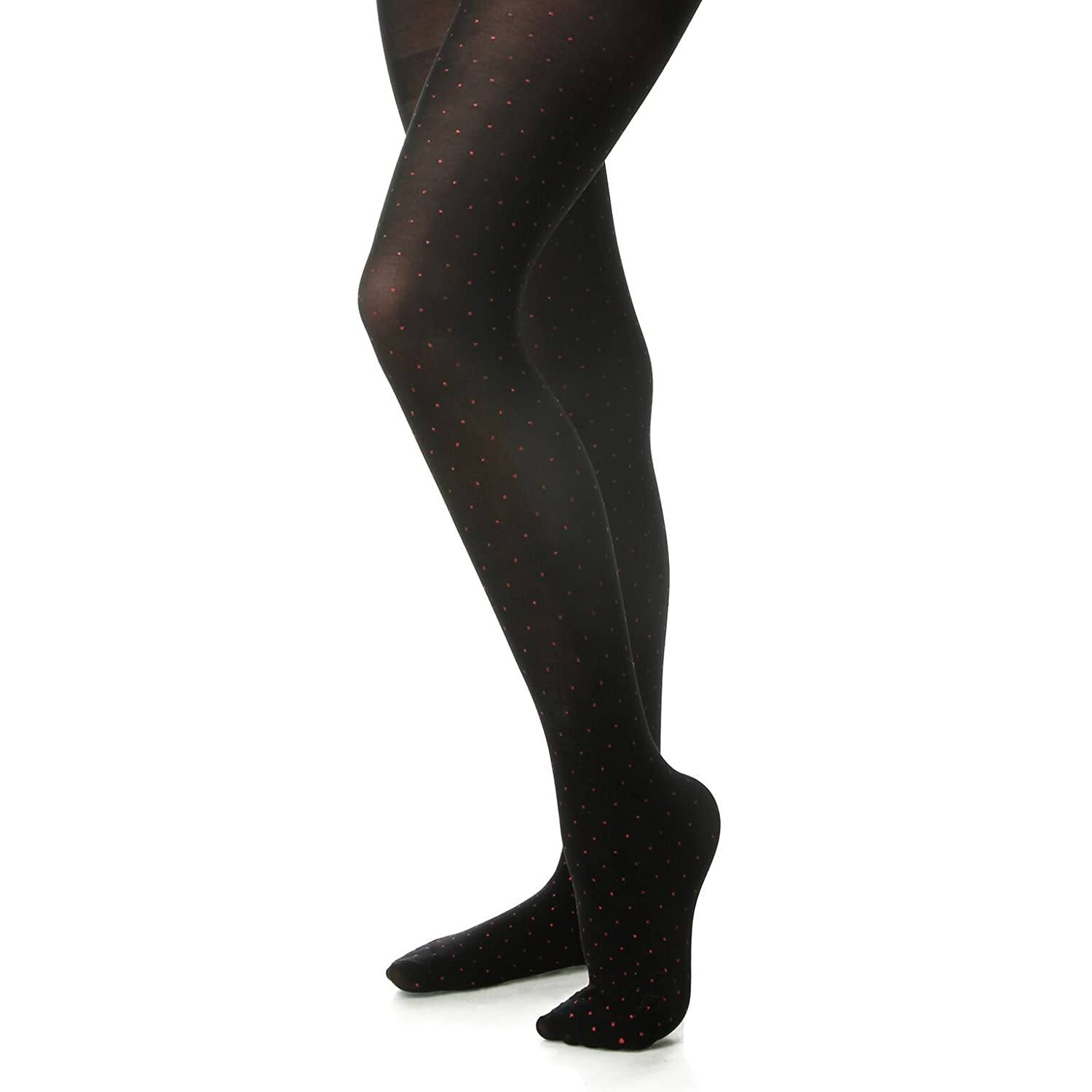 6b89685890d1a Amazon.com: Silky Toes Microfiber Girls Opaque Footed Glitter Polka Dot  Embellished Tights (2 Pairs): Clothing
