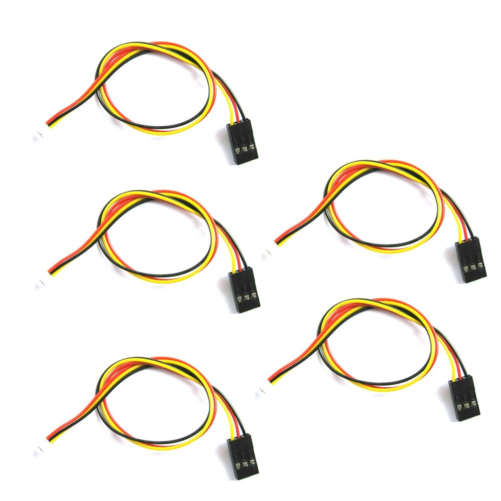 5 PCS 20cm 1.5mm JST-ZH to TJC8 2.54mm Dupont 3P 3 Pins Connecting AV Cable DIY for FPV Camera Lovinn