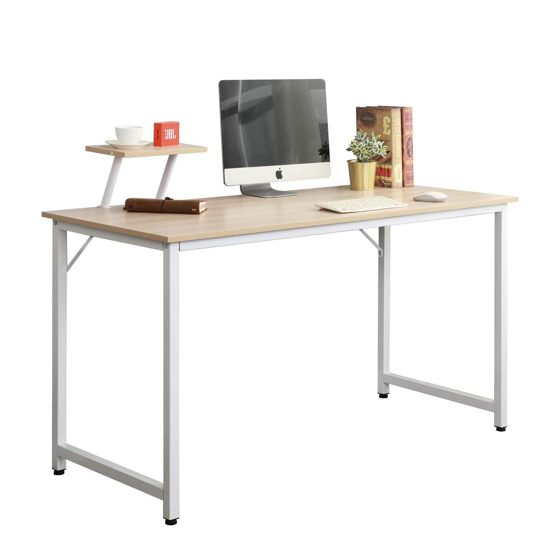 Soges Computer Desk 47 PC Desk Office Desk Workstation for Home Office Use Writing Table, White Oak JK120-MO-CA PRC