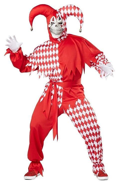 d80a6abc9bd3 Costume Carnevale da Jolly Demoniaco giullare medievale - Uomo ...