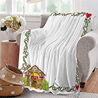 KFUTMD Summer Comforter Blanket Wine Theme with a Bottle and Two Glasses Popular Slogan About Alcoholic Drink Ruby White Sofa Camping Reading Car Travel