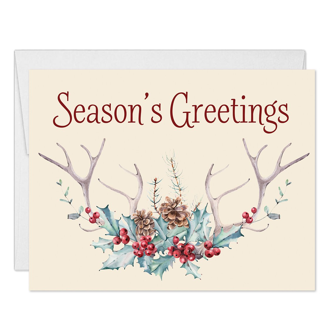 Amazon Seasons Greetings Cards Envelopes Included Set Of 25