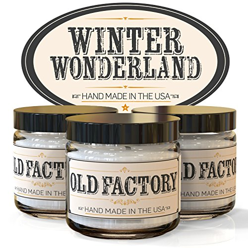 Scented Candles - Winter Wonderland - Set of 3: Hot Cocoa, Roasted Chestnut, and First Snow - 3 x 4-Ounce Soy Candles - Each Votive Candle is Handmade in the USA with only the Best Fragrance Oils