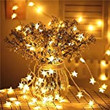 Aisuo Twinkle Star Fairy Lights- 5m 50 LED Warm White String Lights for Kids, Women, Bedroom, Patio, Wedding, Party and Holiday