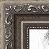 ArtToFrames 15x19 inch Antique Silver with Beads Wood Picture Frame, 2WOMD6661-15x19