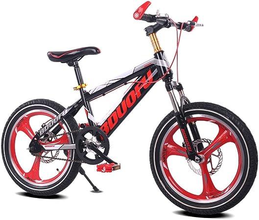 Fenfen Bicicleta para niños 16/18/20 pulgadas Bicicleta de montaña 5/8/10/14 años de edad Niño y niña Bicicleta Marco de acero de alto carbono, Naranja/verde/rojo/azul (Color : 16 inch red): Amazon.es: Hogar
