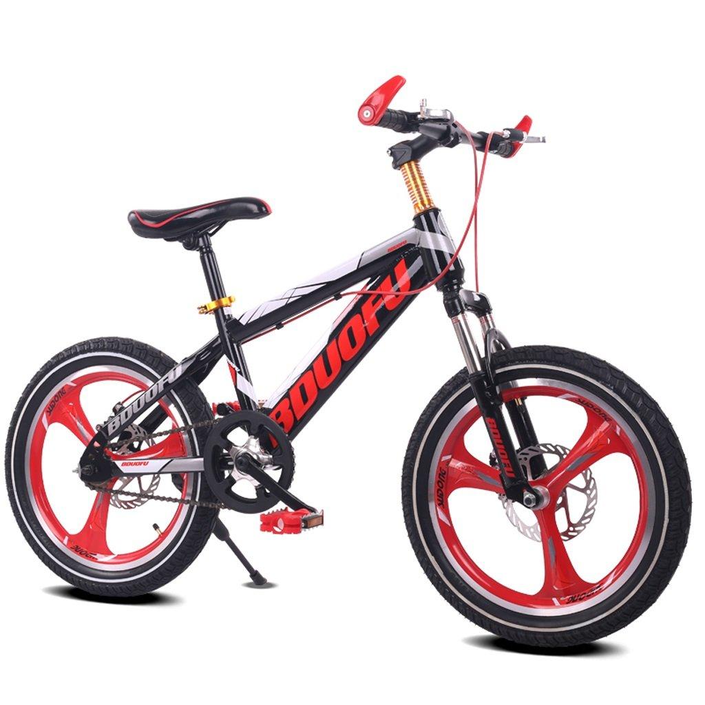 子供用自転車16/18/20インチマウンテンバイク5/8/10/14歳男性と女性の子供用自転車高炭素鋼フレーム、オレンジ/グリーン/レッド/ブルー (Color : 18 inch red) B07D1KTCWV