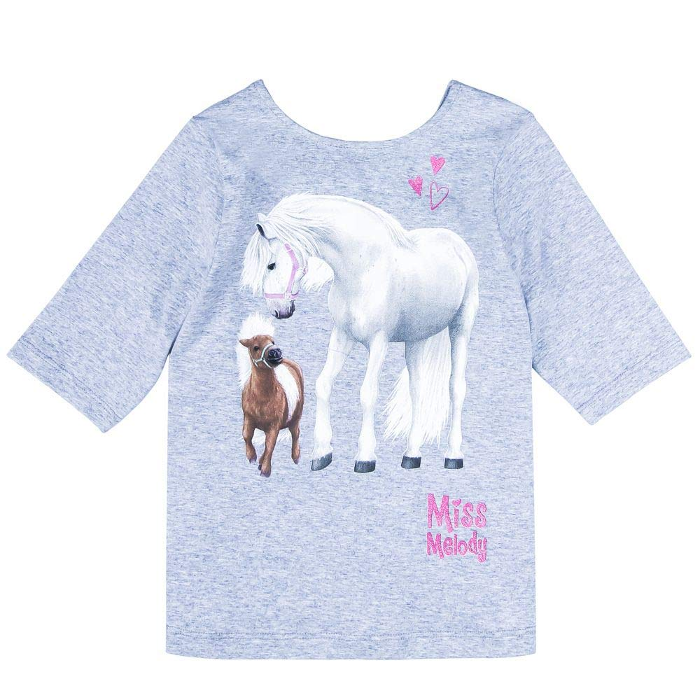 Grigio Miss Melody Ragazza T-Shirt Manica Lunga
