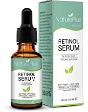 Retinol Serum 2.5% with Hyaluronic Acid, Aloe Vera, Vitamin E Face Moisturizer Cream for Anti Aging, Anti Wrinkle - Contains Many Organic and Natural Ingredients