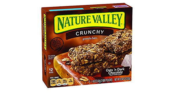 Nature Valley Granola Bars, Crunchy, Oats and Dark Chocolate
