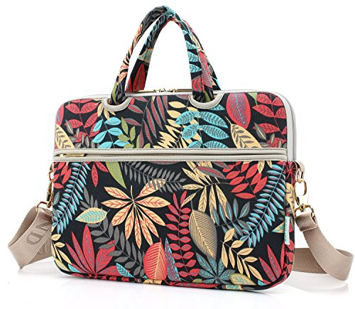 kayond Canvas Fabric 15.6 inch Shoulder Bag-Forest series Wh