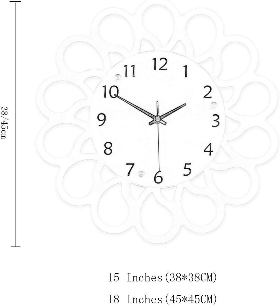 De Poméranie chien Horloge murale Creative Home horloge moderne minimaliste Art Horloge Murale