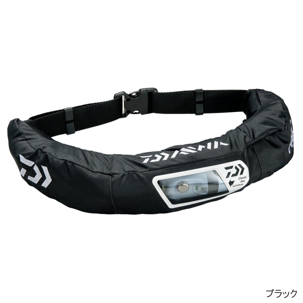 ダイワ(Daiwa)ライフジャケットウォッシャブルウエストタイプ手動・自動膨脹式ブラックDF-2207フリーサイズの画像