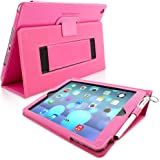 iPad Air Case, Snugg™ Hot Pink Leather iPad Air Smart Case Cover [Lifetime Guarantee] Protective Flip Stand for Apple iPad Air 1 With Auto Wake & Sleep