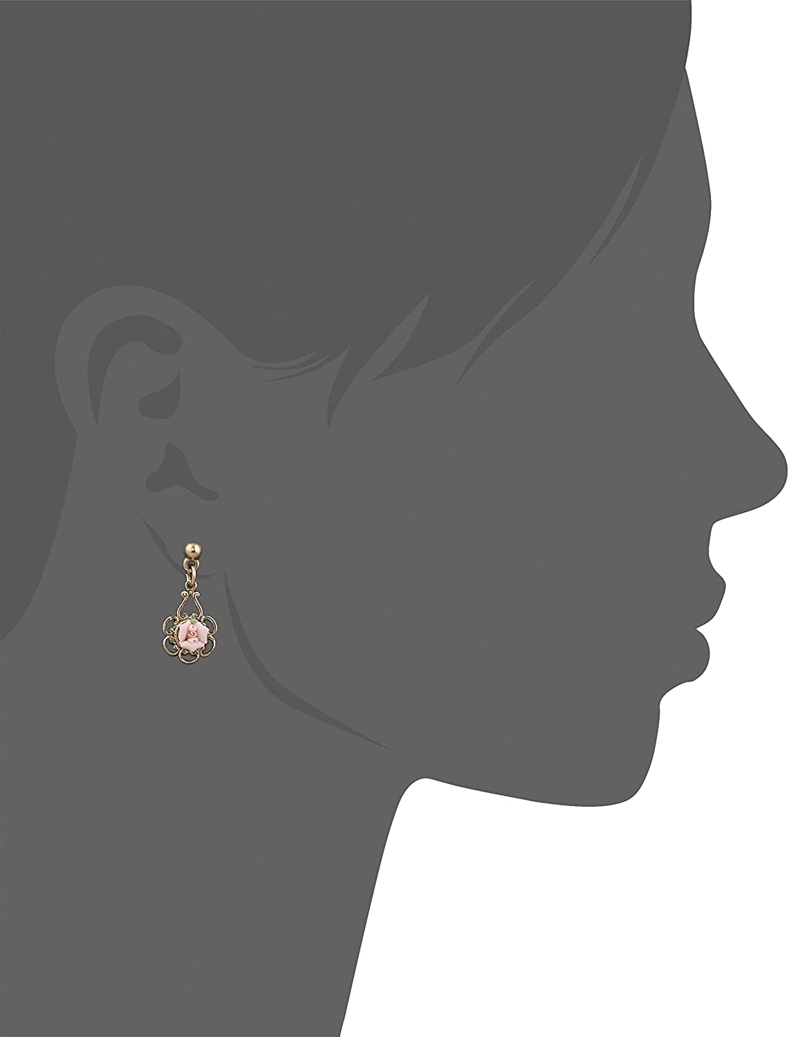 1928 Jewelry Porcelain Rose Gold and Pink Drop Earrings Amazonco