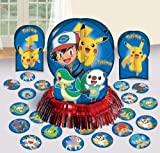 Amscan Electrifyingly Cute Pikachu & Friends Birthday Assorted Table Decorating Kit Pack 23 Blue 12 1/2'' Paper Others Party Supplies (138 Piece)