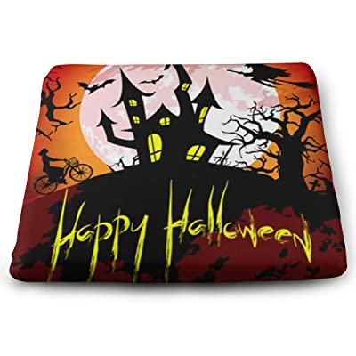 "Osvbs Happy Halloween with Spooky Haunted House Decorative Seat Cushions 1.2"" × 13.8"" × 15.0"" for Home Office Dinning Chair Solid Color Indoor Outdoor: Home & Kitchen"