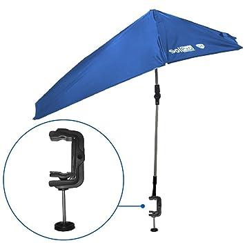 SolPro - Paraguas abatible para sombra – Paraguas de 4 vías con giro de 360 grados