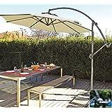 Coolaroo Cantilever Umbrella Round, 10', Smoke