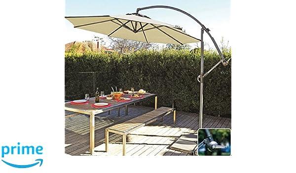 Amazoncom Coolaroo Cantilever Umbrella Round Smoke - Coolaroo 10 foot round cantilever freestanding patio umbrella mocha